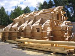 Производство домов из лафета